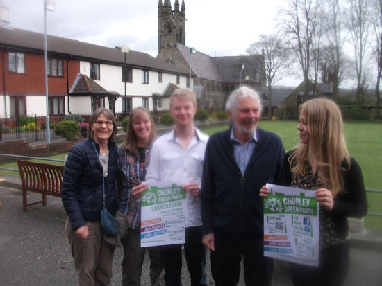 A distinguised-looking David leads the relaunch of the Chorley Green Party
